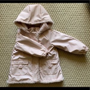 Zara girl's lined rain coat